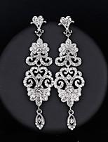 cheap -Women's Drop Earrings - Flower Simple, European, Fashion Silver For Wedding / Daily