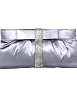 cheap -Women's Bags Satin Evening Bag Crystals Black / Gray
