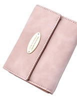 cheap -Women's Bags PU Leather Wallet Buttons Blushing Pink / Dark Grey / Light Grey