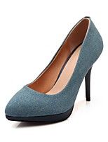 cheap -Women's Shoes Denim Spring Comfort Heels Stiletto Heel Pointed Toe Dark Blue / Light Blue / Party & Evening