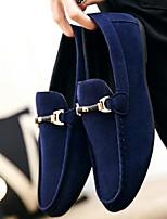 Недорогие -Муж. обувь Нубук Весна Удобная обувь Мокасины и Свитер Черный / Красный / Синий