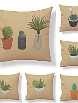 cheap -6 pcs Textile / Cotton / Linen Pillow case, Art Deco / Retro / Printing Square Shaped / Creative