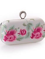 Недорогие -Жен. Мешки Полиэстер / PU Вечерняя сумочка Кристаллы / Вышивка Вышивка Белый