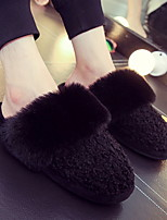cheap -Women's Slippers Slide Slippers Ordinary / Casual Fleece solid color