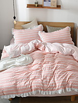 cheap -Duvet Cover Sets Stripes / Ripples Polyster Reactive Print 3 Piece