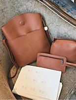 cheap -Women's Bags PU Bag Set 3 Pcs Purse Set Tassel Red / Blushing Pink / Brown