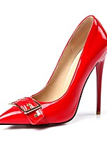 cheap -Women's Shoes PU(Polyurethane) Fall & Winter Basic Pump Heels Stiletto Heel Black / Red / Almond