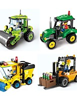 cheap -Building Blocks 102pcs Parent-Child Interaction City View Construction Truck Set / Compactor Gift