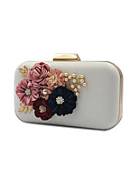 cheap -Women's Bags PU Evening Bag Appliques / Pearls for Event / Party White