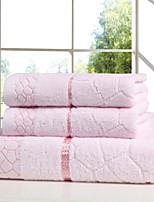 Недорогие -Высшее качество Банное полотенце / Полотенце для рук, Однотонный Полиэстер / Хлопок 3 pcs