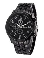 Недорогие -Муж. Нарядные часы Китайский Секундомер / Творчество Нержавеющая сталь Группа Мода Черный / Серебристый металл