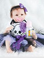 Недорогие -Куклы реборн Девочки 22дюймовый Силикон Универсальные Детские Подарок