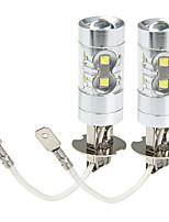 cheap -SENCART 2pcs H3 Car / Motorcycle Light Bulbs 50W SMD LED 3100lm 10 LED Fog Light For universal All years