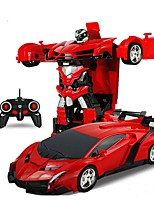 cheap -RC Car 2In1 RC Car Sports Car Transformation Robots Models 4 Channel On-Road Drift Car 1:18 KM/H
