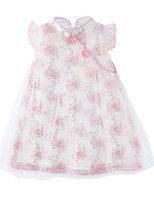abordables -Bébé Fille Fleur Sans Manches Robe