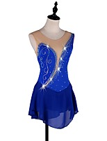 cheap -Figure Skating Dress Women's / Girls' Ice Skating Dress Royal Blue strenchy Performance / Practise Skating Wear Quick Dry, Anatomic Design