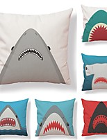 cheap -6 pcs Textile / Cotton / Linen Pillow case, Art Deco / Printing / Wildlife Simple / Square Shaped