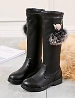 Недорогие -Девочки Обувь Кожа Наступила зима Зимние сапоги Ботинки для Для подростков Черный / Черный / Для вечеринки / ужина