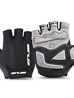 cheap -Sports Gloves Bike Gloves / Cycling Gloves Anti-Slip Wearable Breathable Stretchy Fingerless Gloves Silica Gel Microfiber Lycra Spandex