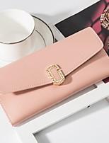 cheap -Women's Bags PU Wallet Buttons Black / Blushing Pink