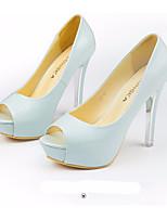 cheap -Women's Shoes PU(Polyurethane) Summer Comfort / Basic Pump Heels Stiletto Heel White / Black / Blue