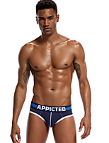 cheap -Men's Briefs Underwear Solid Colored Low Rise