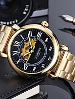 economico -Per uomo orologio meccanico / Orologio militare Giapponese Cronografo / Orologi con incisioni / Punk Vera pelle Banda Lusso / Casual Nero