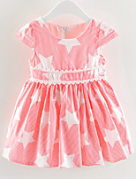 cheap -Kids Girls' Striped / Geometric Short Sleeve Dress