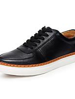 cheap -Men's Shoes Cowhide Winter Comfort Sneakers Black