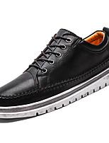 Недорогие -Муж. обувь Искусственное волокно Полиуретан Дерматин Весна Осень Удобная обувь Туфли на шнуровке для Повседневные Черный Коричневый