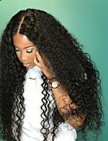 cheap -Remy Human Hair Wig Brazilian Hair Curly 180% Density 100% Virgin Long Women's Human Hair Lace Wig