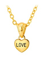 cheap -Men's Women's Pendant Necklace  -  Fashion Heart LOVE Gold Silver 55cm Necklace For Daily