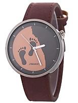 abordables -Mujer Reloj de Vestir Chino Cronógrafo / Reloj Casual PU Banda Creativo / Moda Negro / Rojo
