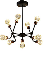 cheap -QIHengZhaoMing 9-Light Sputnik Chandelier Ambient Light - Crystal, 110-120V / 220-240V, Warm White, LED Light Source Included / 15-20㎡