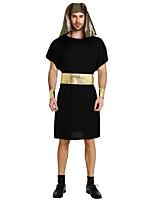 economico -Costumi antico Egitto Completi Unisex Halloween / Carnevale / Giorno della morte Feste / vacanze Costumi Halloween Nero Tinta unita /