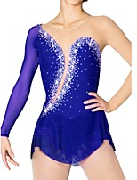 cheap -Figure Skating Dress Women's Ice Skating Dress Royal Blue Skating Wear Quick Dry, Anatomic Design Classic / Sexy Long Sleeve Ice Skating