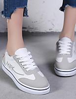 Недорогие -Жен. Обувь Полотно Весна Удобная обувь Кеды На плоской подошве Белый / Черный