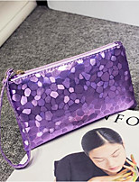 cheap -Women's Bags PU Clutch Zipper for Outdoor Silver / Purple / Light Gold