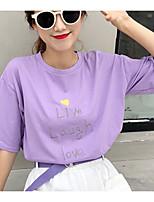 economico -T-shirt Per donna Alfabetico Cotone / Cotone / Alfabetico