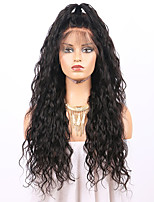 cheap -Remy Human Hair Lace Front Wig Wig Brazilian Hair Wavy 130% Density With Baby Hair / Natural Hairline / African American Wig Women's Short Human Hair Lace Wig