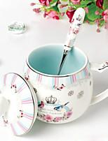cheap -Drinkware Porcelain Mug / Cup & Saucer Heat-Insulated 1pcs