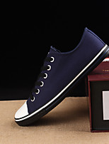cheap -Men's Shoes Canvas Spring & Fall Comfort Sneakers Black / Blue / Wine