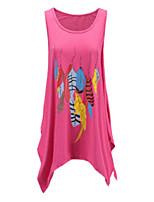 abordables -Tee-shirt Femme, Couleur Pleine / Géométrique Imprimé Basique / Bohème