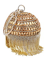 cheap -Women's Bags Polyester / Rhinestones Evening Bag Beading / Crystals / Tassel for Wedding / Event / Party Black / Silver / Red