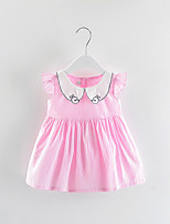 cheap -Toddler Girls' Solid Colored / Striped Sleeveless Dress