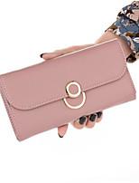 cheap -Women's Bags PU Wallet Buttons Blushing Pink / Gray / Khaki