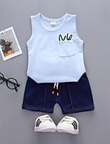 Недорогие -Дети / Дети (1-4 лет) Мальчики Однотонный Без рукавов Набор одежды