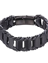 cheap -Men's 1 Leather Bracelet - Fashion Geometric Black Brown Bracelet For Daily