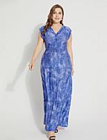 cheap -TS - Sweet Curve Women's Basic Boho Jalabiya Dress - Floral