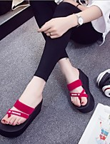 Недорогие -Жен. Обувь Этиленвинилацетат Лето Удобная обувь Тапочки и Шлепанцы Микропоры для Повседневные Черный Пурпурный